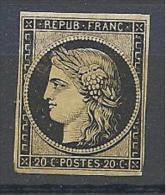CERES    N° 3  NEUF** SANS CHARNIERE TTB  Signé CALVES RARE - 1849-1850 Ceres