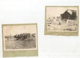 2 PHOTOS ANIMÉES IDENTIFIÉES. D55.LES ISLETTES.ANNEE 1916.MILITAIRE.GUERRE. SOLDAT. DIMENSION PHOTO ENVIRON 12X 9 Cm - Lieux