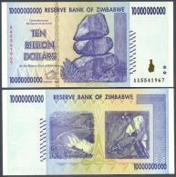 ZIMBABWE - P85 - 2008 - 10000000000 DOLLARS - Zimbabwe