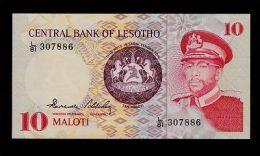LESOTHO 10 MALOTI 1984 L/81 PICK # 6b AU-UNC. - Lesoto