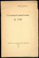 Un Manuscrit Musical Mosan De 1728 - Clément Charlier. - Culture
