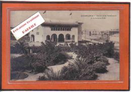 Carte Postale Maroc  Casablanca  Grande Poste Et Jardin De La Subdivision  Beau Plan - Casablanca