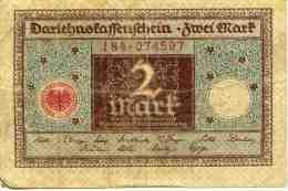 Allemagne Germany 2 Mark 1 Marz 1920 P60 - [ 3] 1918-1933 : República De Weimar