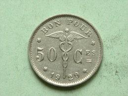 1929 FR - 50 CENT / KM 87 / Morin 416 ( For Grade, Please See Photo ) ! - 1909-1934: Albert I