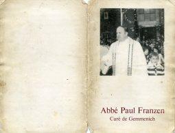 Souvenir Abbé Paul Franzen Gemmenich - Devotion Images