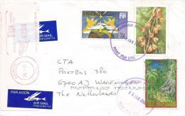Fiji 2001 Raiwaqa Christmas Forest Calanne Orchid Meter Franking Label Cover - Fiji (1970-...)