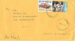 Solomon Islands 2005 Kgakira Mobile Post Office Bus Dendrobium Orchid Cover - Solomoneilanden (1978-...)