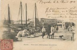 Bizerte Vieux Port Debarquement Des Poteries Pottery Timbrée 1904 La Pecherie - Tunisia