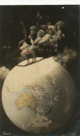 Fiji Australia Pacific Solomon Bismark Papua New Guinea New Hebrides Map Surrealism - Fiji
