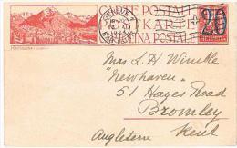 ENTIERS POSTAUX  Obliteration GENEVE  Pour  BROMLEY  Du  13 . 11 . 1924. - Interi Postali