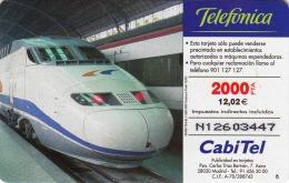 TWK, Spanien, Schnellzug, 2000 Pta = 12,02 Euro Gebraucht - Spain