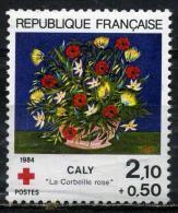 FRANCE 2345**  2f10  + 50c  Multicolore  Au Profit De La Croix Rouge  La Corbrille Rose De Caly - France