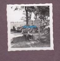 Photo Ancienne - SEMUR En AUXOIS - Officiers Prisonniers Des Allemands Exode 1940 - Carrefour Vic De Chassenay Pouligny - 1939-45