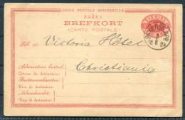 1884 Sweden Railway PKXP Stationery Brefkort