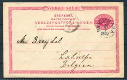 1902 Sweden Railway PKXP Stationery Brefkort