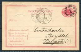 1890 Sweden Railway PKXP Stationery Brefkort