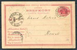 1889 Sweden Kalmar - Emmaboda Railway PKXP Stationery Brefkort