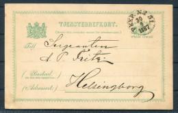 1887 Sweden Railway TPO PKXP Stationery Tjenstebrefkort