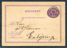 1880 Sweden Railway PKXP TPO Stationery Brefkort