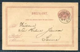 1882 Sweden Railway PKXP TPO Stationery Brefkort