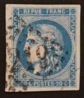 YT 46 B Oblitéré GC 3219 , Départ 0.01€ SANS PRIX DE RESERVE, 4 Grandes Marges Petit BdF?, Cote 25 € - 1870 Uitgave Van Bordeaux
