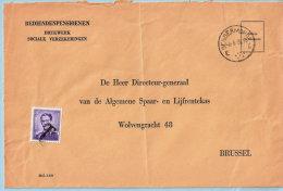 Omslag, Afst. DENDERMONDE 06/06/1958 + N°1029 Ontwaard Met Stempel T (beschouwd Als Takszegel) - Brieven