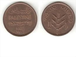 *palestina 1 Mil 1946 Km 1  Xf+ !!!!! - Autres – Asie