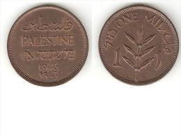 *palestina 1 Mil 1946 Km 1  Xf+ !!!!! - Monnaies