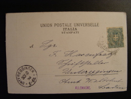HASENFRATZ HEIMAT SCHRIFTSTELLER ECRIVAIN UNTER EGGINGEN AMT WALDSHUT DA ITALIA VESUVIO FERROVIA FUNICOLARE  1898 - Waldshut-Tiengen