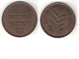 *palestina 2 Mils1941 Km 2  Xf !!!!! - Monnaies