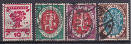 Deutsches Reich Mi.-Nr. 107-110 Gestempelt - Deutschland