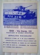 BARI  AVANGUARDIA RIVOLUZIONARIA  MILITARE  IPPOLITO NICCOLINI MEDAGLIA D'ORO AFRICA  BIR EL GOBI  CARRO ARMATO INGLESE - Manifesti
