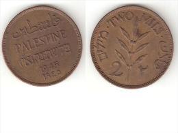*palestina 2 Mils1945 Km 2  Xf - Monnaies