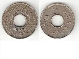 *palestina 5 Mils1939 Km 3  Xf+ !! - Monnaies