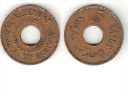 *palestina 5 Mils1942 Km 3a  Xf !! - Monnaies