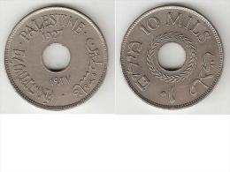 *palestina 10 Mils1927 Km 4  Xf+ !! - Monnaies