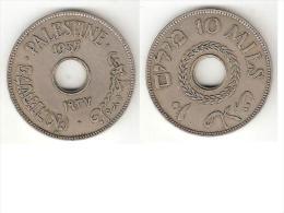 *palestina 10 Mils1937 Km 4  Xf !! - Monnaies