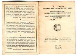 International Student Identity Card,Prague,MCC IUS UIE School Fiscal Stamp 10 Korun - Diploma & School Reports