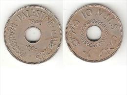 *palestina 10 Mils1940 Km 4  Xf !! - Monnaies