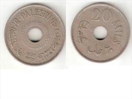 *palestina 20 Mils1935 Km 5  Vf+ !! - Monnaies
