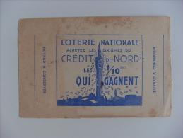 "Carta Assorbente/buvard ""Loterie Nationale Credit Du Nord"" - Carte Assorbenti"