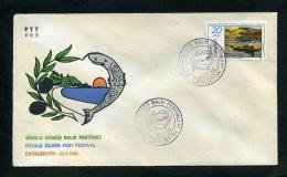 TURKEY 1982 FDC - Ginolu Silver Fish Festival, Catalzeyin, Jul. 23 - FDC
