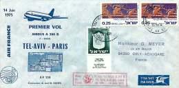 1975  Premier Vol Air France Tel Aviv - Paris Par Airbus A300 B - Luftpost