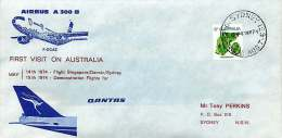 1974  Airbus A300 B  Demonstration Flights For Qantas - First Flight Covers