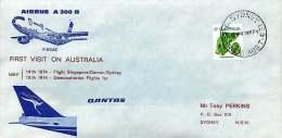 1974  Airbus A300 B  Demonstration Flights For Qantas - Erst- U. Sonderflugbriefe