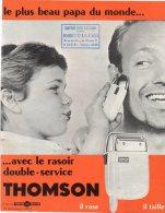 """RASOIR THOMSON )  Belle Illustration_- Détails Techniques  Très Dévellopés - """" Supercoupe"""" - Publicidad"""