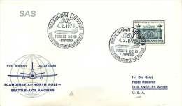 1974   Premier Vol De SAS Copenhague - Los Angeles Par Le Pôle Nord - Aéreo