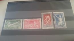 LOT 162520 TIMBRE DE FRANCE NEUF** N°183 A 186 VALEUR 158 EUROS - France