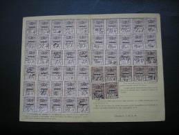 Fiscaux Socio-postaux Alsace Lorraine - Yvert 69 - Papier Blanc Et GC - 1925 - ESCHAU - Fiscaux