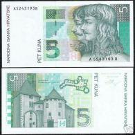 CROATIA 5 KUNA P28 1993 FORTRESS FRANKOPAN - Kroatië
